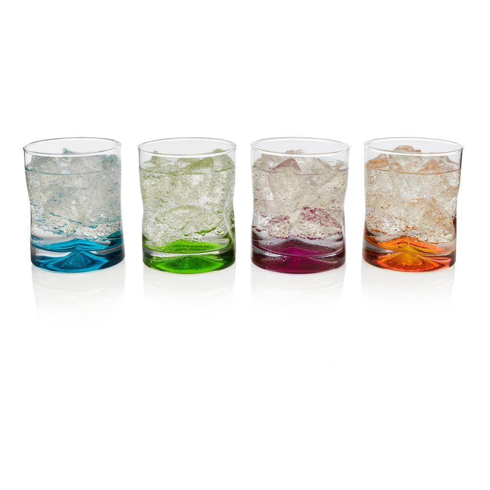 Impressions Colors 4-piece Rocks Glass Set