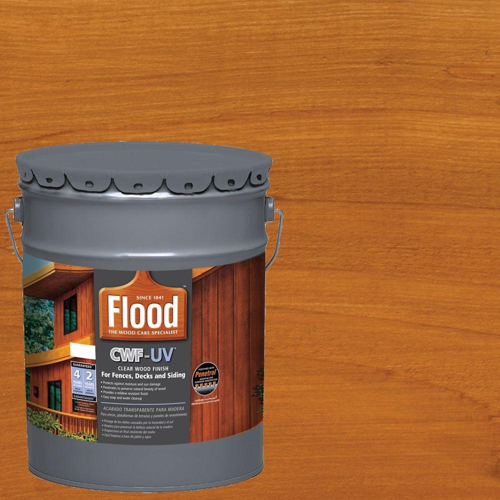 flood 5 gal cedar tone cwf uv oil based exterior wood