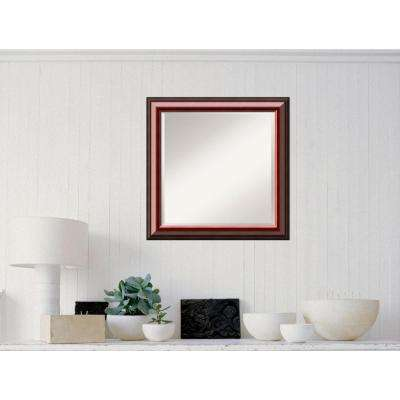 Cambridge Mahogany Wood 24 in. W x 24 in. H Traditional Framed Mirror