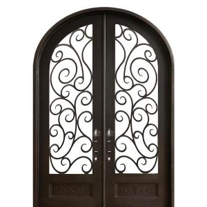 ALLURE IRON DOORS & WINDOWS 72 inch x 120 inch Lauderdale Dark Bronze Right-Hand... by ALLURE IRON DOORS & WINDOWS