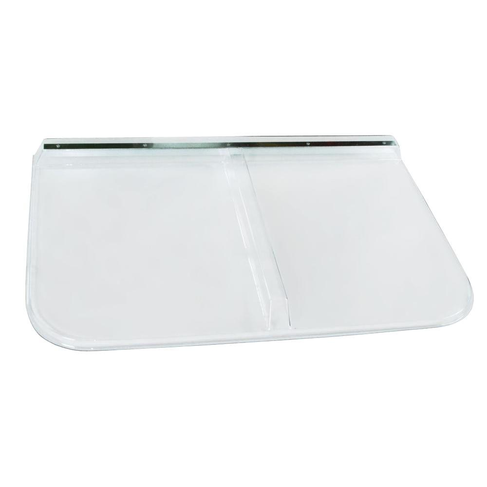 42 in. x 26 in. Polycarbonate Rectangular Window Well Cover