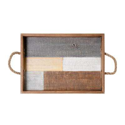 16 in. Block Wood Tray