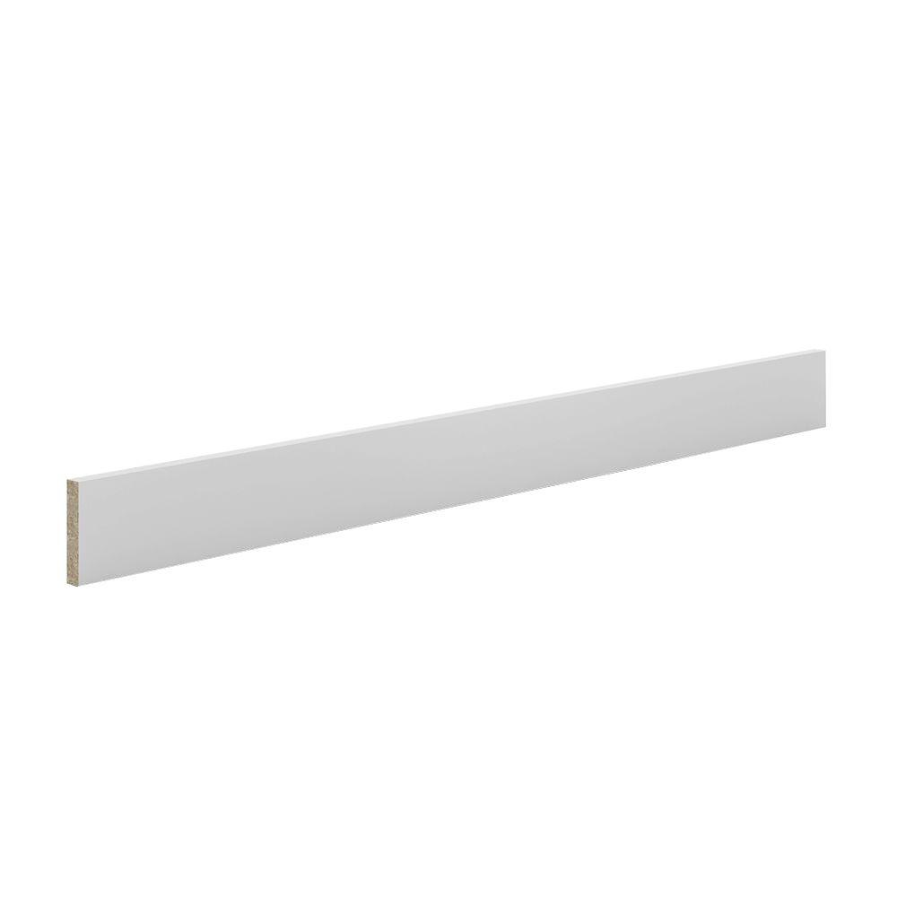 Toe Kick In White Melamine