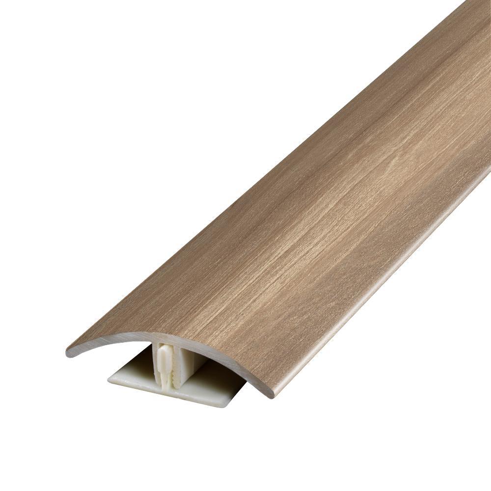 Fulmar Fruitwood 0.37 in. T x 1.75 in. W x 78.7 in. L Vinyl 2-in-1 Molding