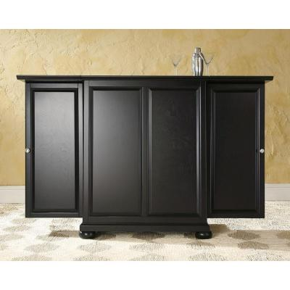 Alexandria Black Bar with Expandable Storage