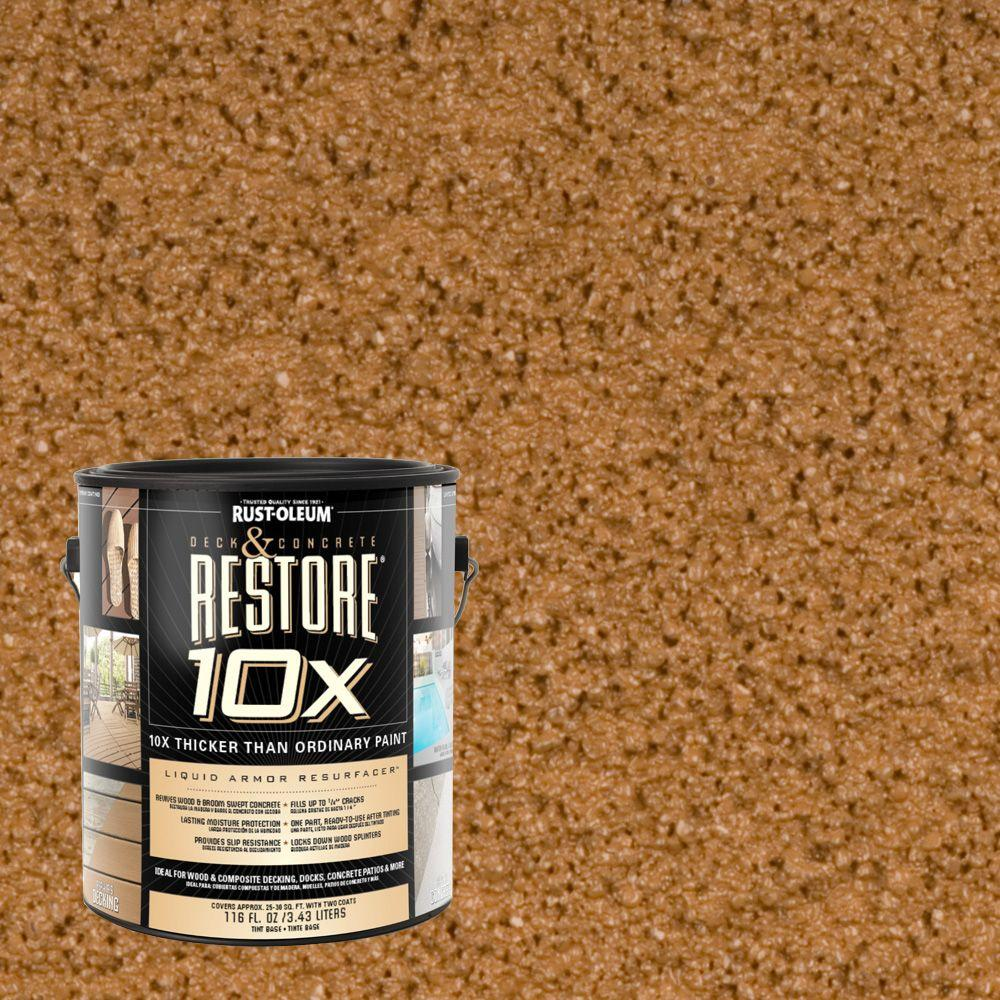 Rust-Oleum Restore 1-gal. Saddle Deck and Concrete 10X Resurfacer