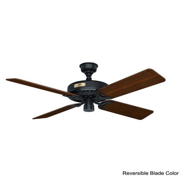 Indoor Outdoor Black Ceiling Fan 23838
