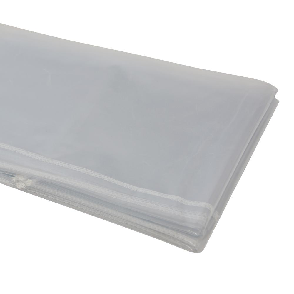 54 in. x 72 in. Heavy Duty Clear Plastic Tablecloth with ...