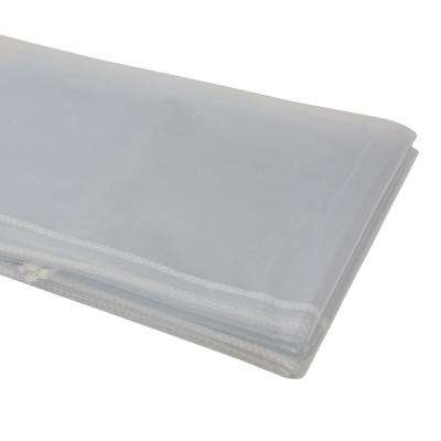 54 in. x 72 in. Heavy Duty Clear Plastic Tablecloth with White Sewn Edges