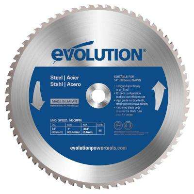 12 in. 60-Teeth Mild Steel Cutting Saw Blade
