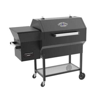 Pellet Grill and Smoker with Single Meat Probe PID Digital Control and Extended 1160 sq. in. Cooking Surface in Black