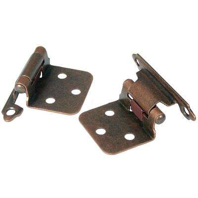 No Inset Venetian Bronze Self-Closing Hinge (1-Pair)