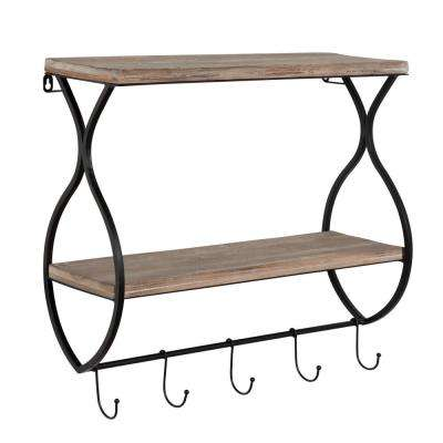Spurling 8 in. x 23 in. x 20 in. Natural Wood Decorative Wall Shelf