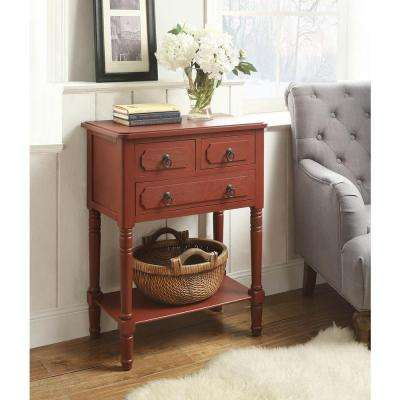 antique entryway table. Simplicity Antique Red Storage Console Table Entryway W