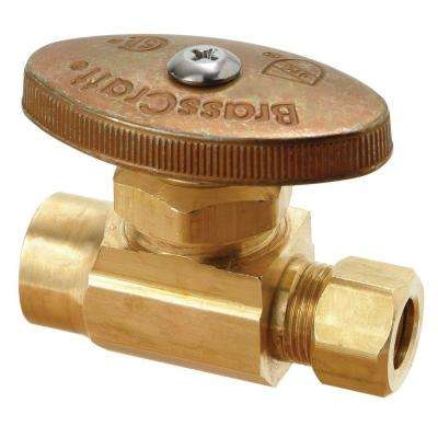 1/2 in. Nominal Sweat Inlet x 3/8 in. O.D. Compression Outlet Multi-Turn Straight Valve