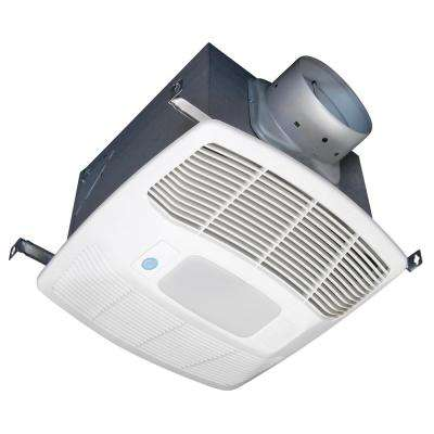 White 150 CFM Single Speed Motion and Humidity Sensing 0.6 Sone Ceiling Exhaust Bath Fan with LED Light ENERGY STAR