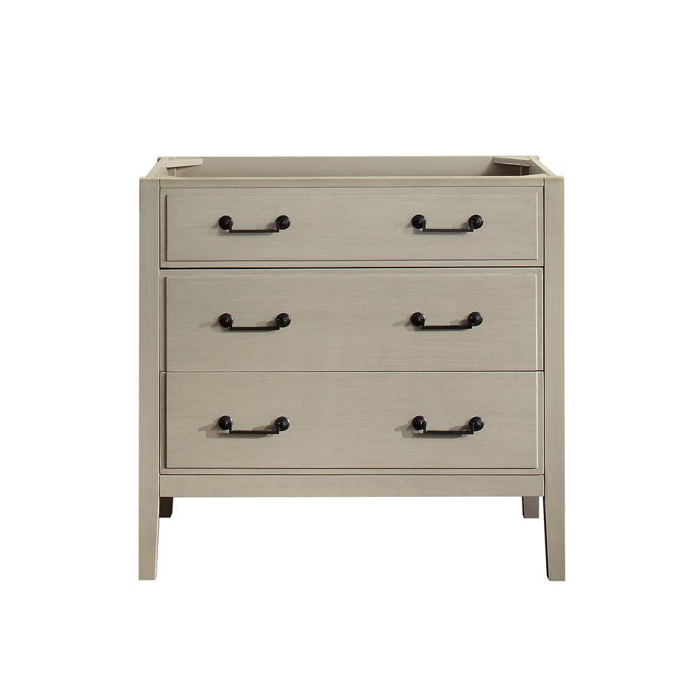 Delano 36 in. W x 21.5 in. D x 34 in. H Vanity Cabinet in Taupe Glaze