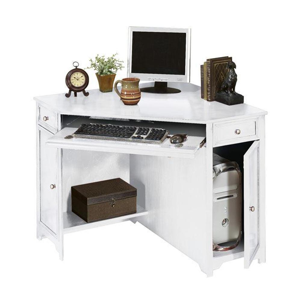 Home Decorators Collection Oxford White 50 In W Corner Computer Desk 5953900410 The Home Depot