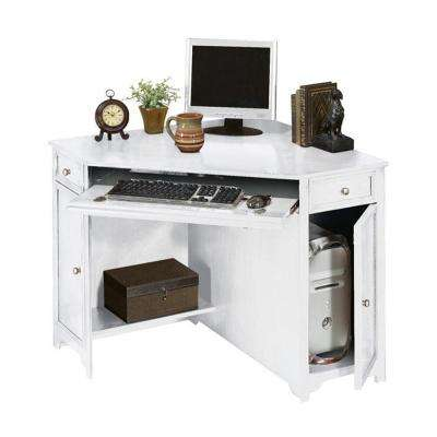 Oxford White 50 in. W Corner Computer Desk