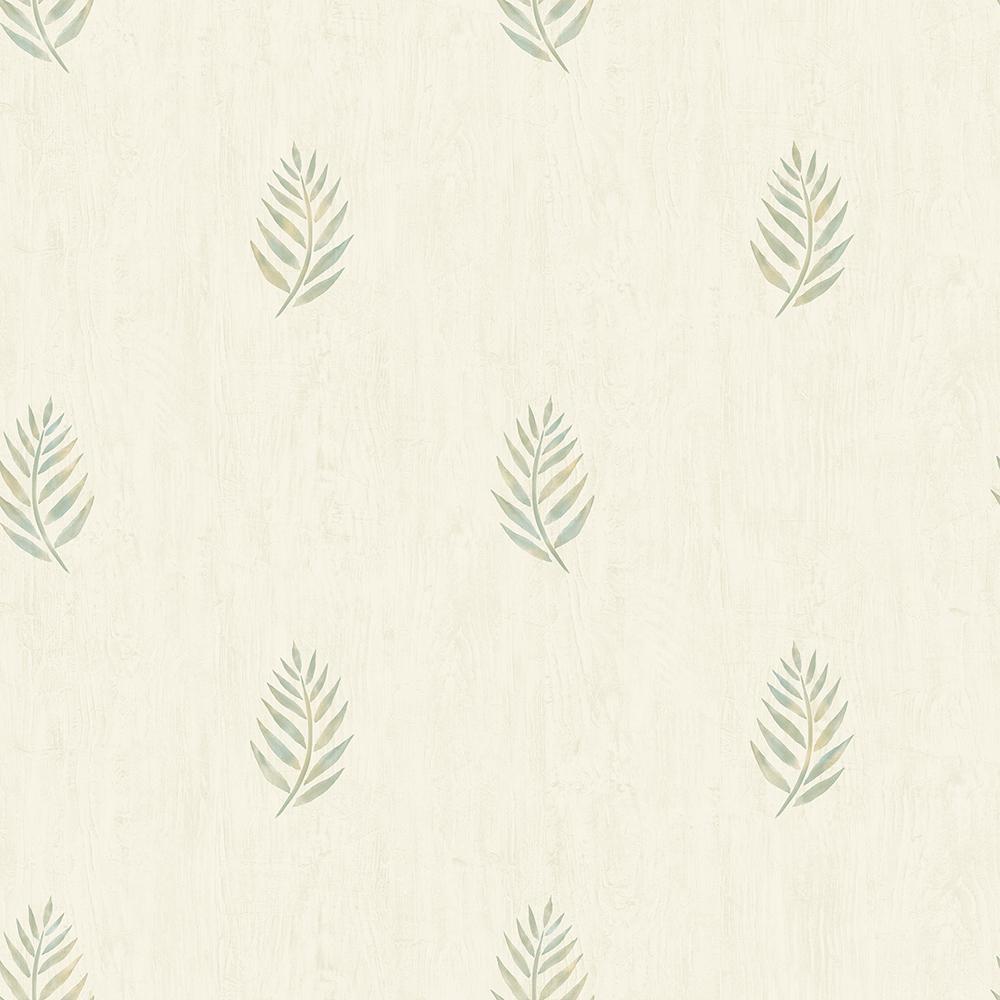 56.4 sq. ft. Vista Olive Leaf Wallpaper