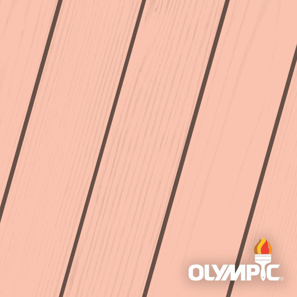 Olympic Maximum 5 gal. Coral White Solid Color Exterior Stain and Sealant in One