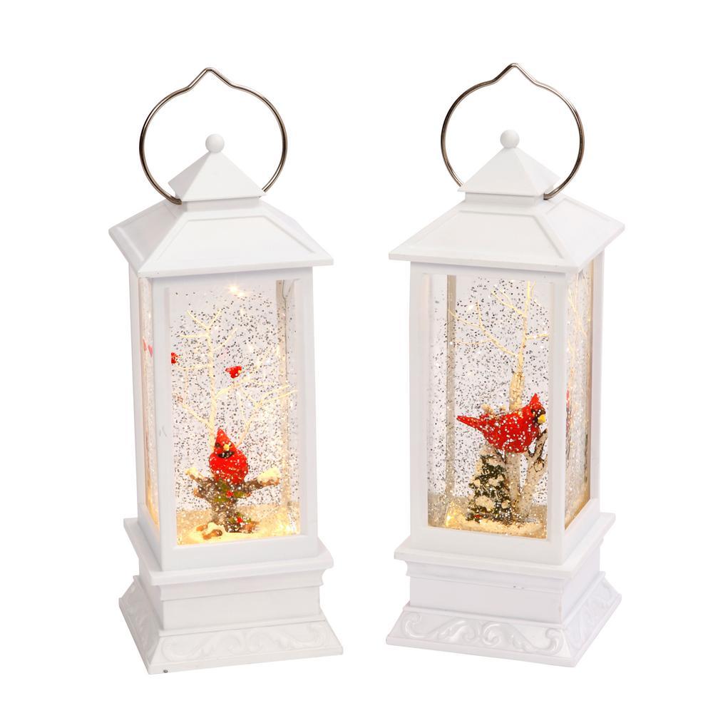 10.8 in. Assorted Snow Globe Lanterns (2-Set)