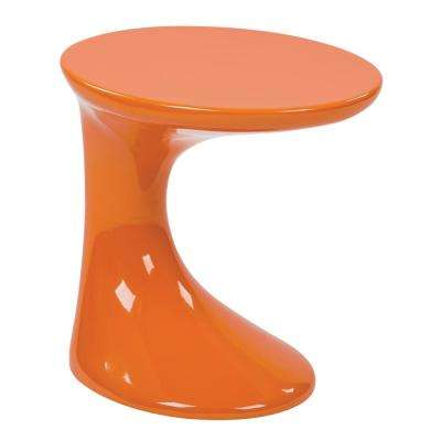 Slick High Gloss Orange End Table