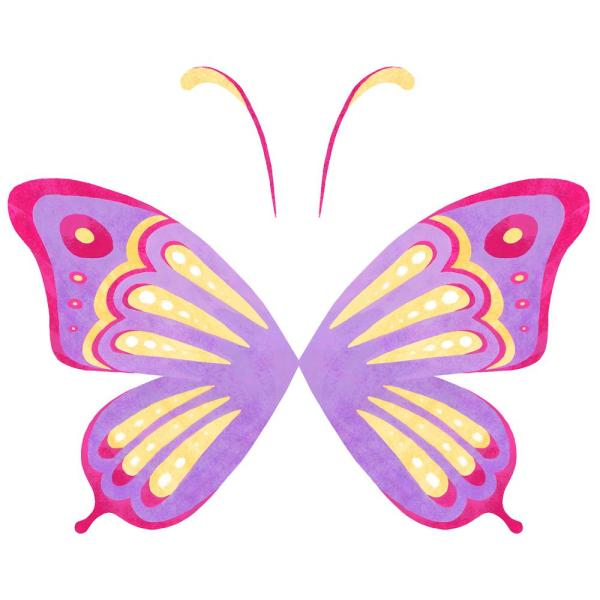 Wallpops Multi Color Fly Away With Me Decal Wall Art Kit