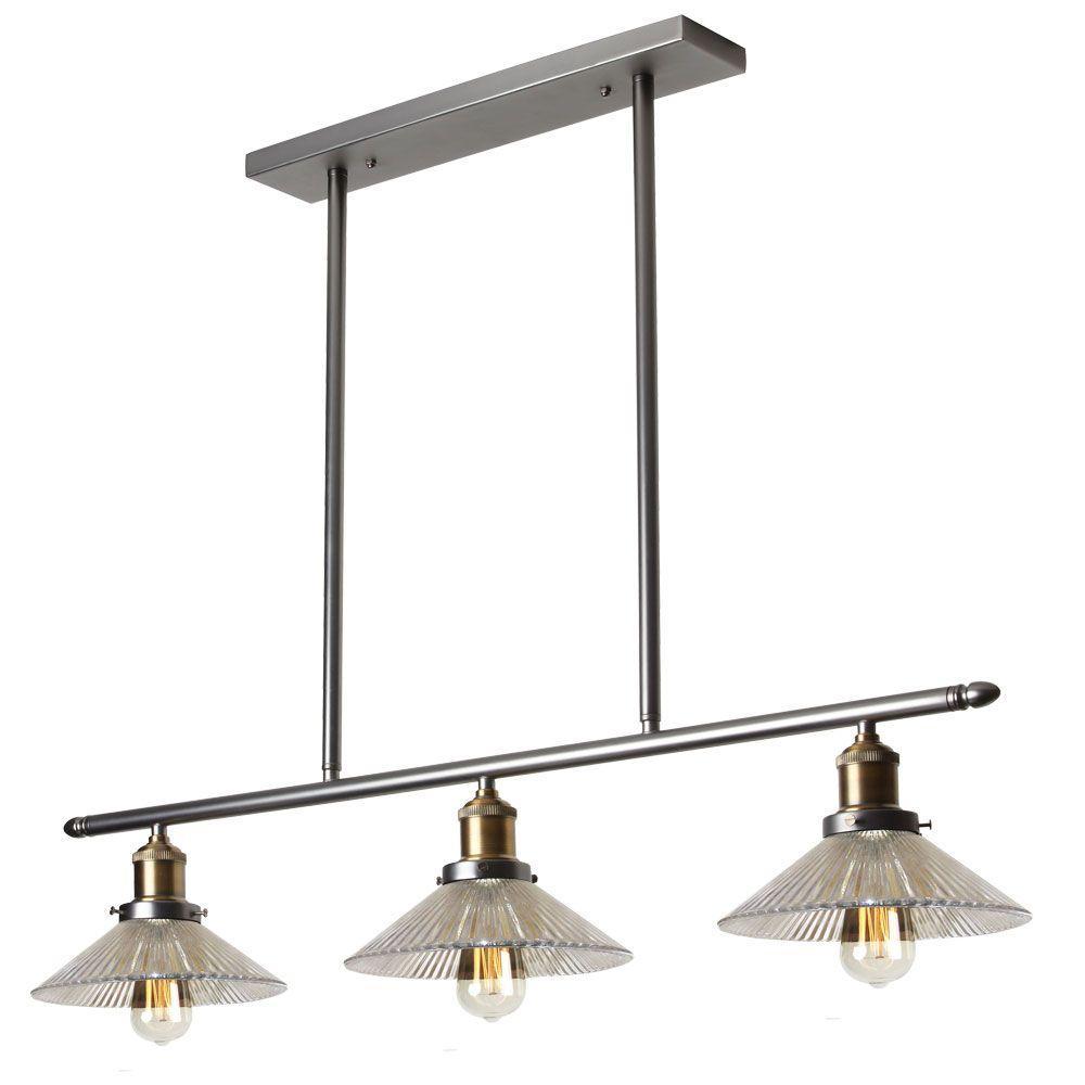 Vintory 3-Light Vintage Steel Pendant