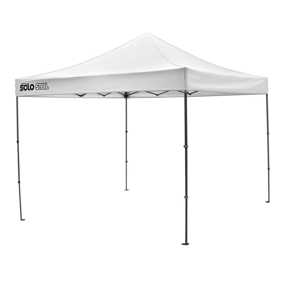 10 ft. x 10 ft. White Straight Leg Pop-Up Instant Canopy