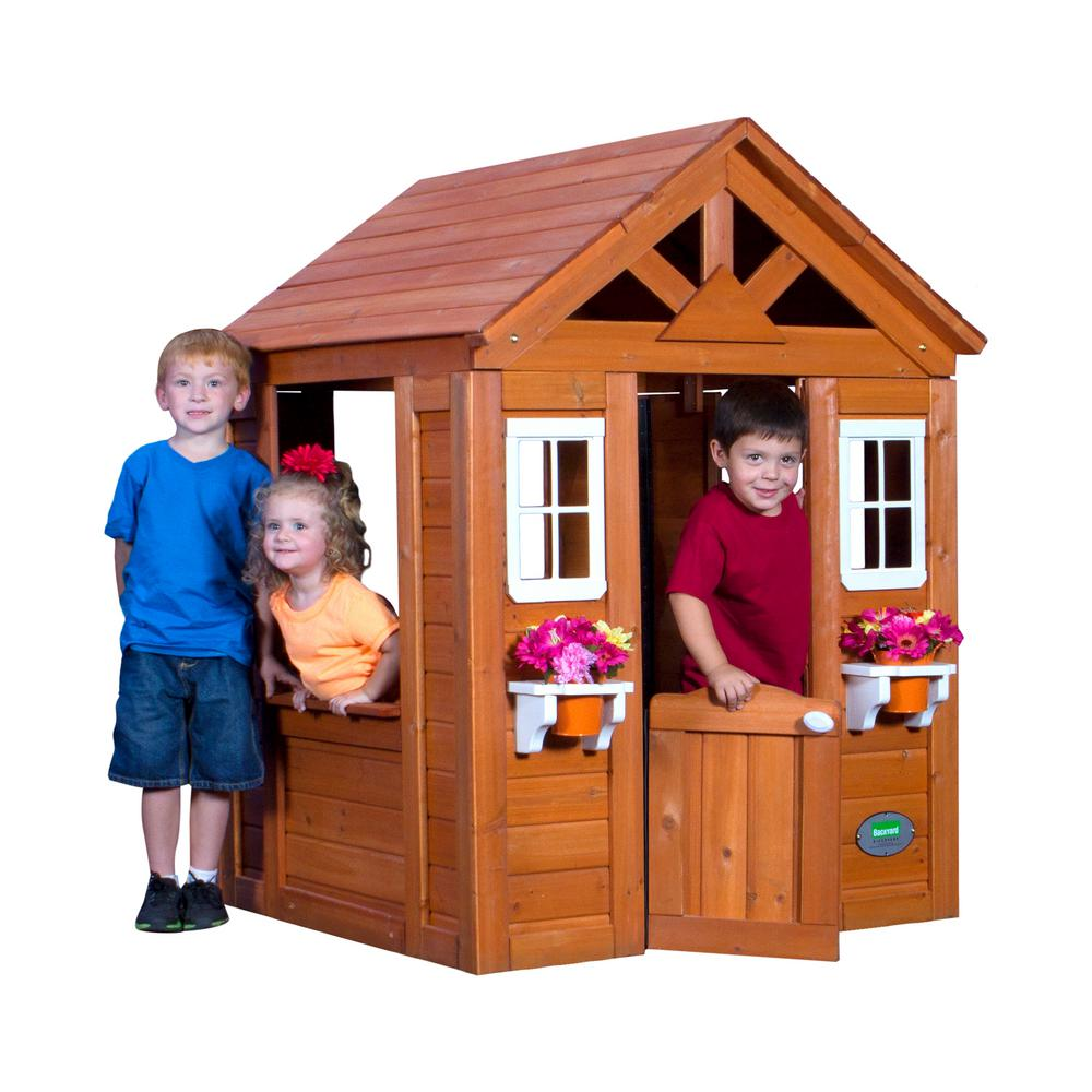 backyard discovery timberlake all cedar playhouse 65314com the home depot. Black Bedroom Furniture Sets. Home Design Ideas