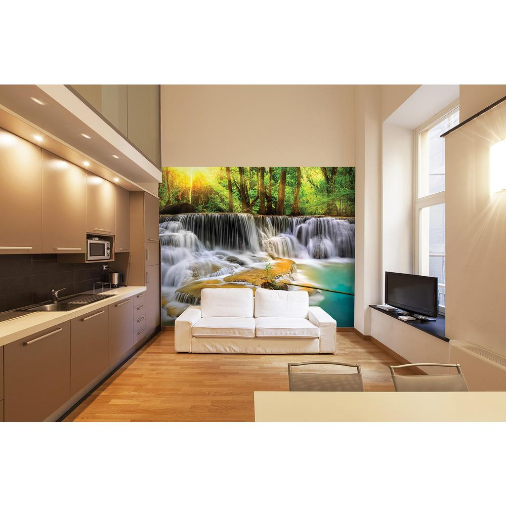 Brewster 118 in x 98 in mystical waters wall mural for Brewster wall mural