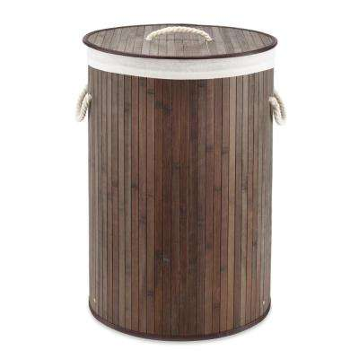 Round Bamboo Hamper with Rope Handles