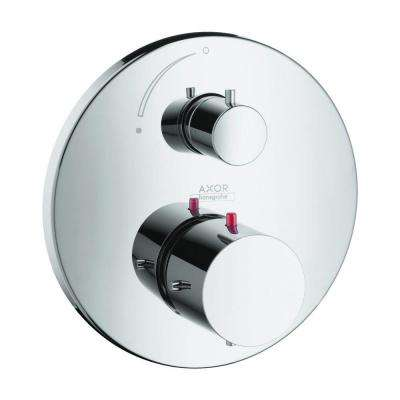 Axor Starck 2-Handle 7 in. Thermostatic Valve Trim Kit with Volume Control in Chrome (Valve Not Included)