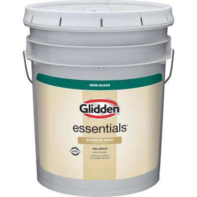 5 gal. White/Base 1 Semi-Gloss Exterior Paint