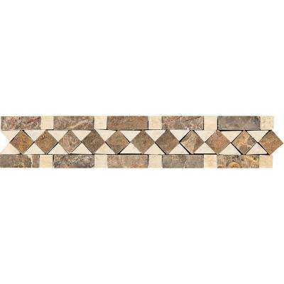 Stone Decor Diamond Dream 2-3/8 in. x 12 in. Marble Accent Wall Tile