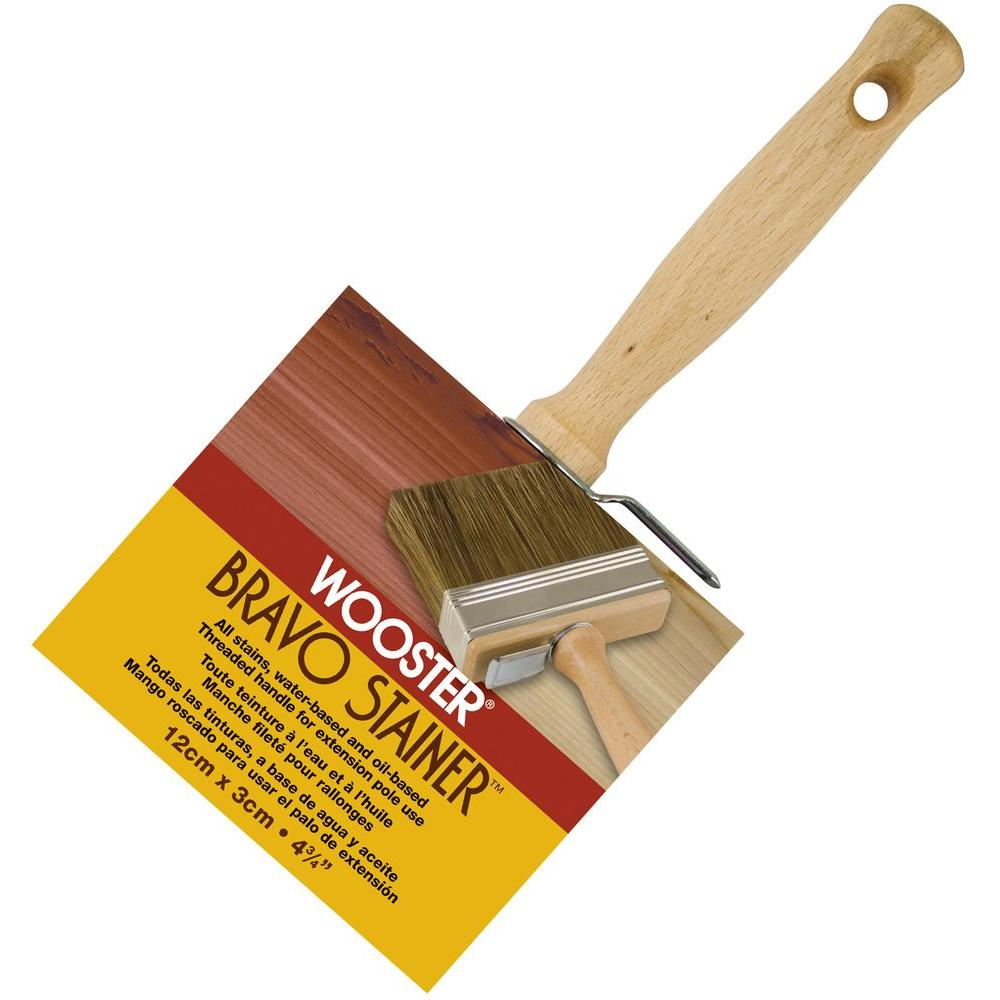 Wooster 4-3/4 in. Bristle/Polyester Bravo Stainer Brush
