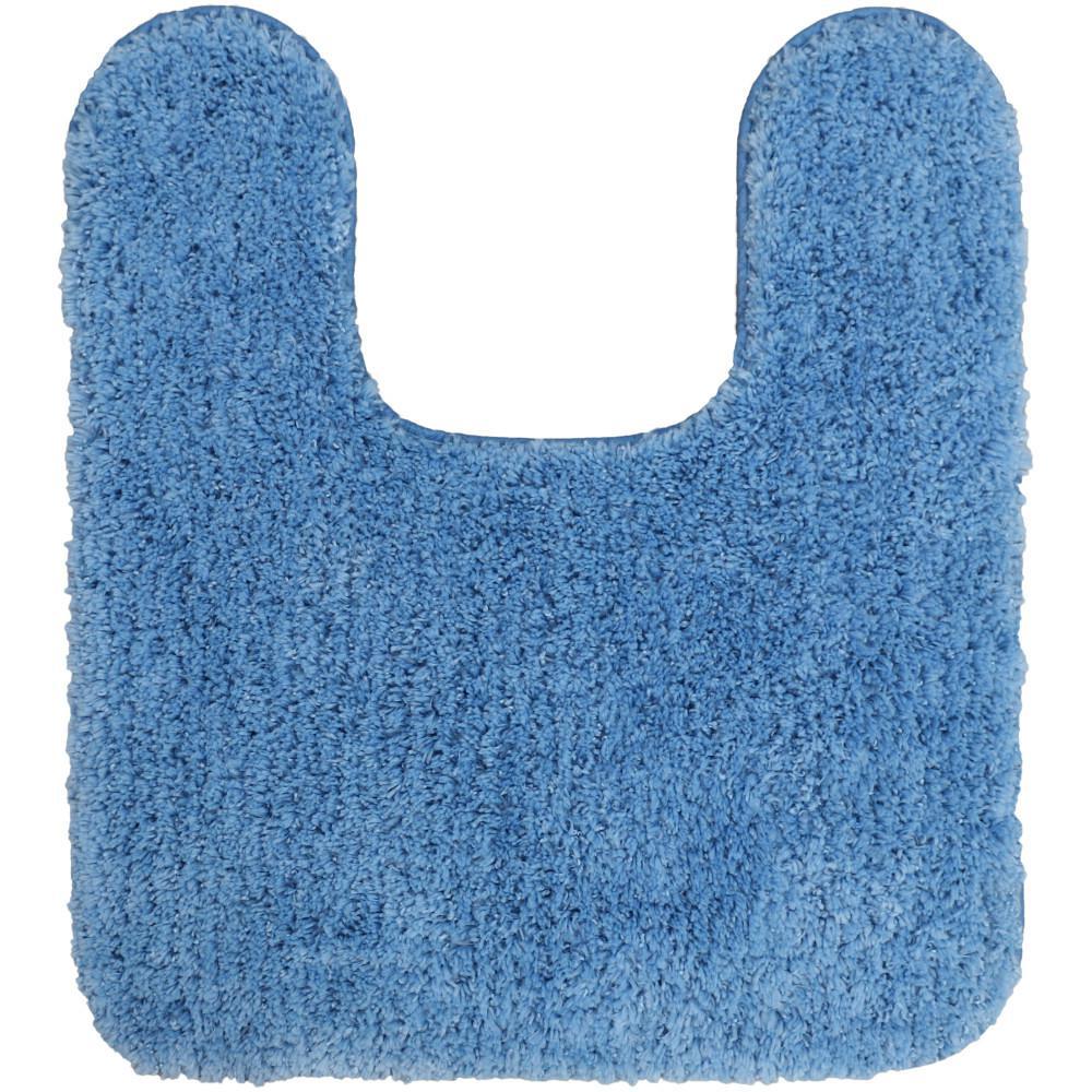 Mohawk Home Duo Blue 20 in. x 22 in. Nylon Machine Washable Bath Mat