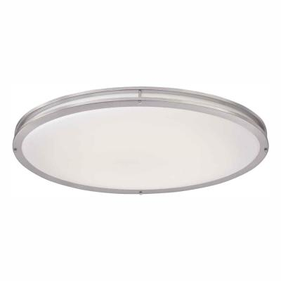 Brushed Nickel LED Oval Flush Mount