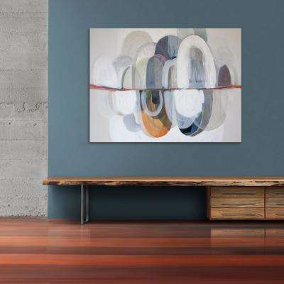 "36 in. x 48 in. ""Subtle Stones"" by Jade Printed and Painted Canvas Wall Art"
