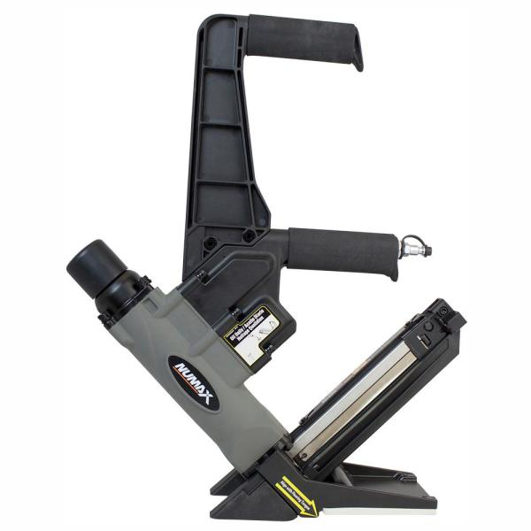 Pneumatic 2-in-1 15-Guage and 16-Gauge 2 in. Dual Handle Flooring Nailer and Stapler