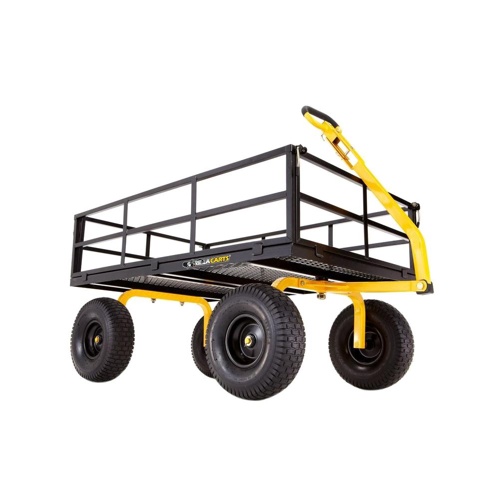 Gorilla Carts 1,400 lb. Super Heavy Duty Steel Utility Cart