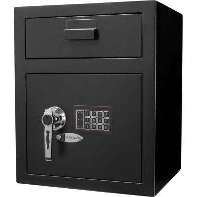 1.1 cu. ft. Steel Large Keypad Depository Safe, Black
