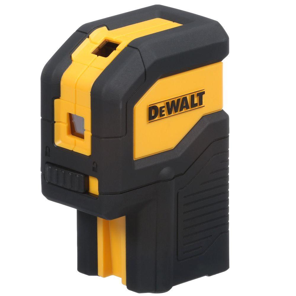 Dewalt 100 Ft Red Self Leveling 3 Spot Laser Level With 2