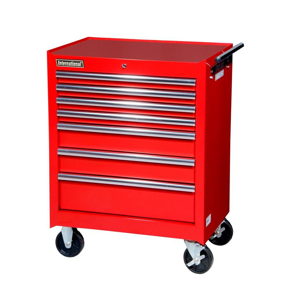 International 27 in. Tech Series 7-Drawer Cabinet, Red
