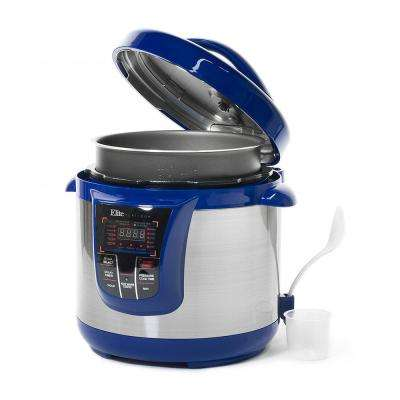 8 Qt. Electric Stainless Steel Pressure Cooker with 13 Functions in Blue