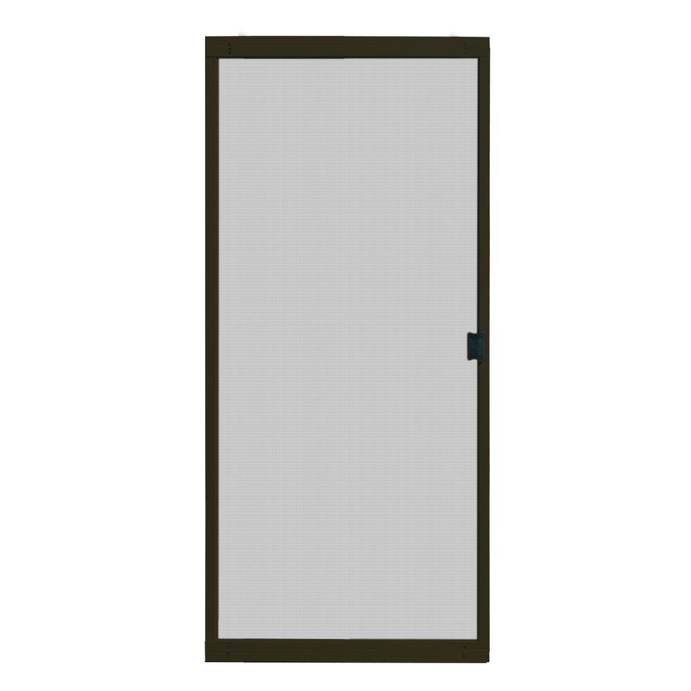 Unique Home Designs 30 in. x 80 in. Standard Bronze Metal Sliding ...
