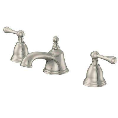 1000 Series 8 in. Widespread 2-Handle Bathroom Faucet with Ceramic Disc Cartridge and Pop-Up Assembly in Brushed Nickel