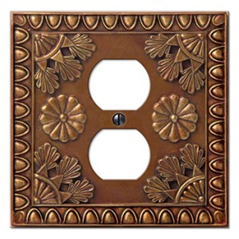 Creative Accents Amiens 1 Duplex Wall Plate - Copper-DISCONTINUED