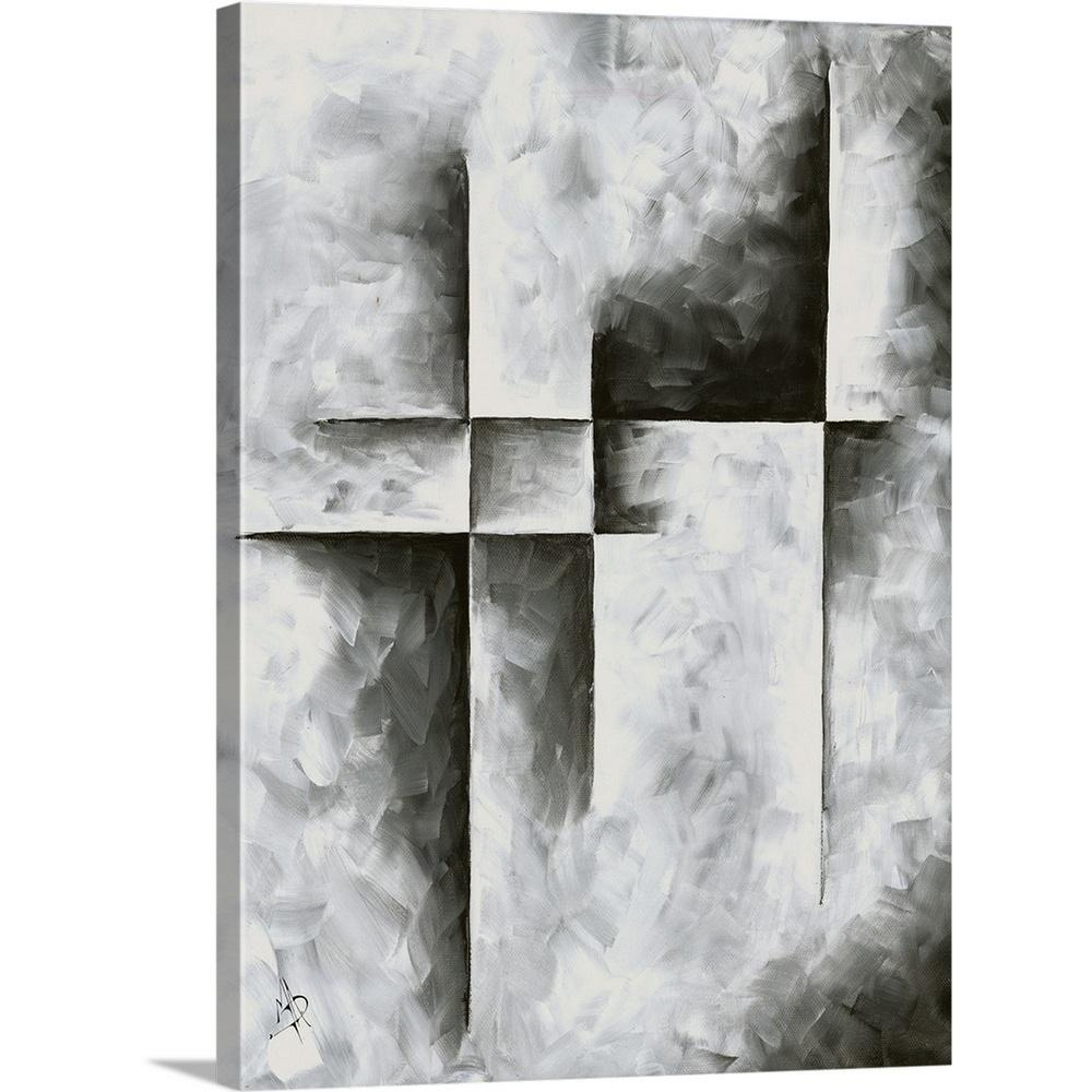 Gray Abstract Art Geo